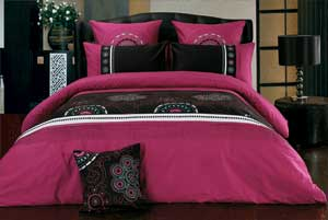 King-Quilt-Doona-Cover-Set-100-Cotton-Embroidery-Design-Bed-linen-Set-B00015K