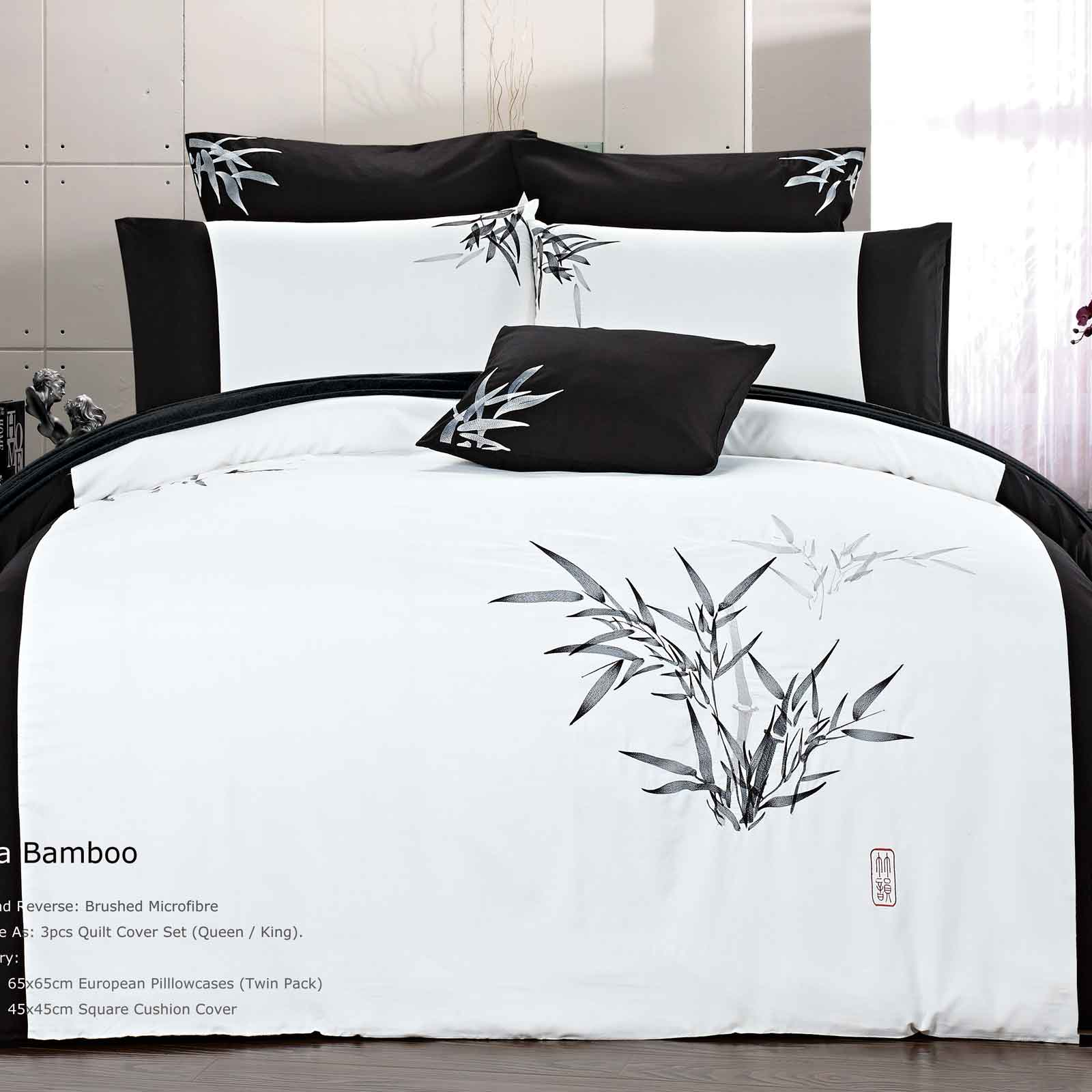 Luxton-Queen-Size-Duvet-Quilt-Cover-Set-Bamboo-Bedding-Set-Bed-Linen-B20010Q