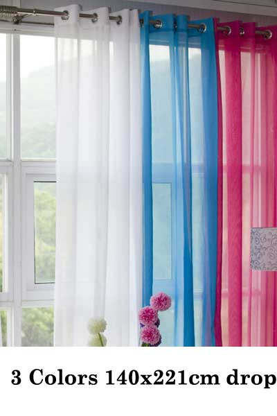 Pink and blue curtains