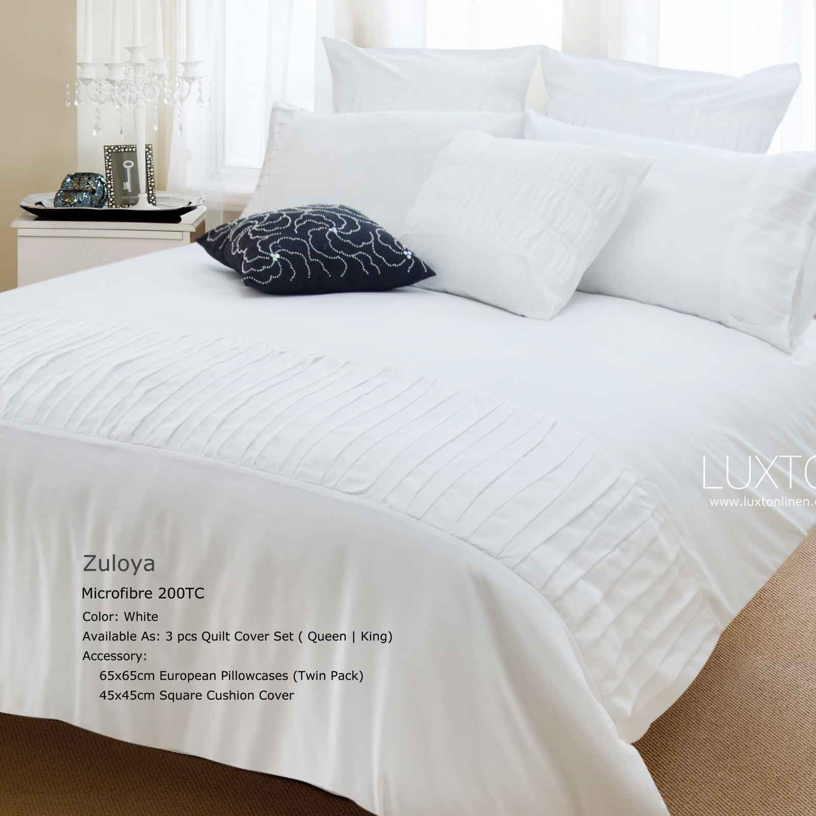 LUXTON-LINEN-King-Duvet-Quilt-Cover-Set-Zuloya-3pcs-Bed-Linen-Set-MC0013K