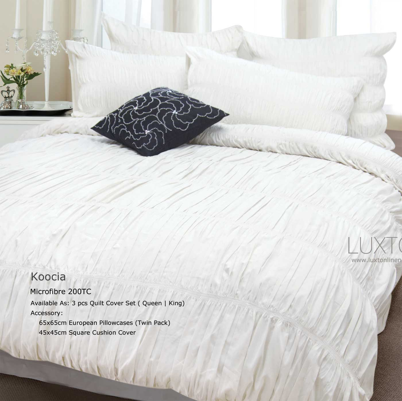 Koocia-King-size-duvet-Doona-Quilt-Cover-Set-3pcs-Bed-linen-set-MC0014K