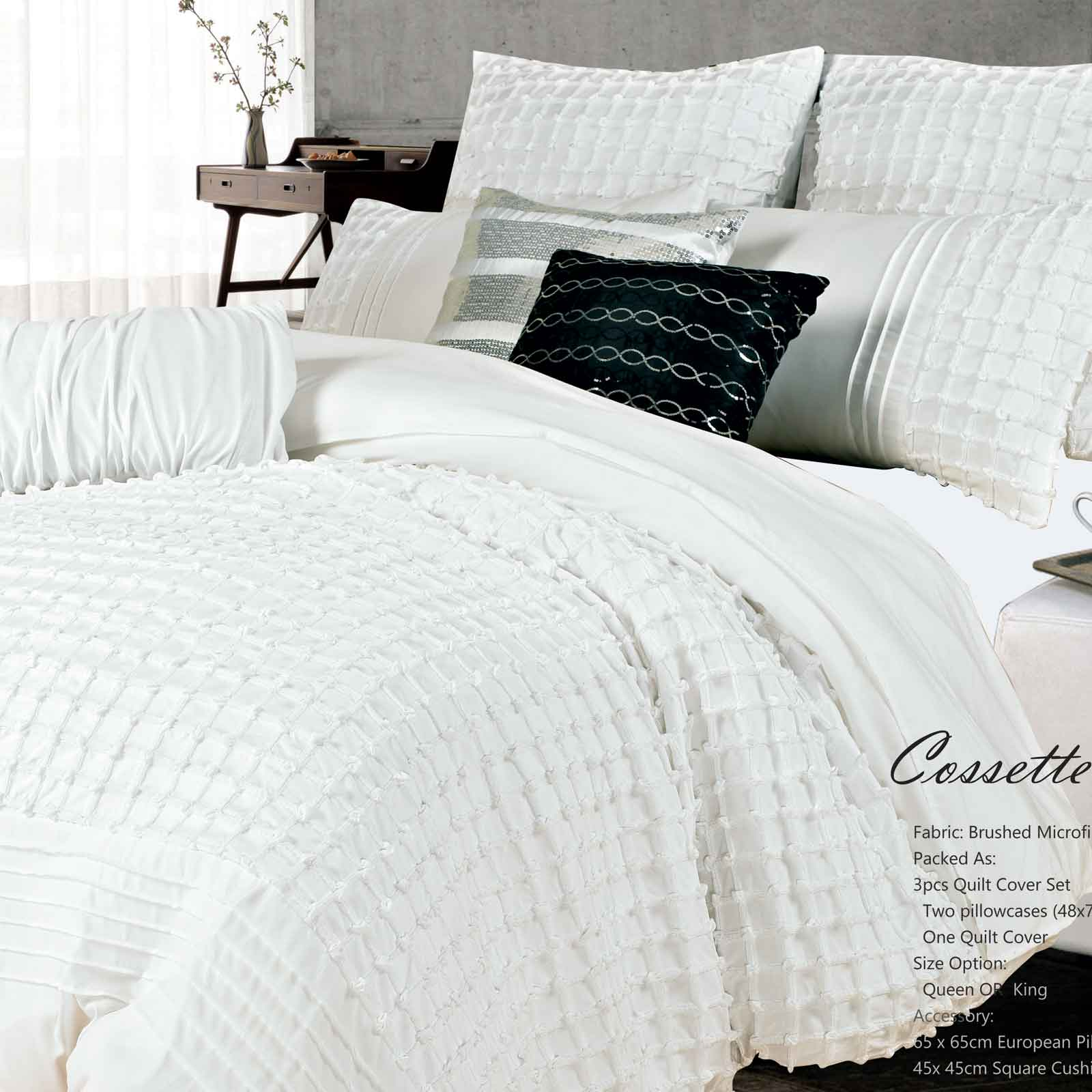Cossette-King-size-Duvet-Quilt-Cover-Set-3pcs-Bed-Linen-Bedding-set-S00007K