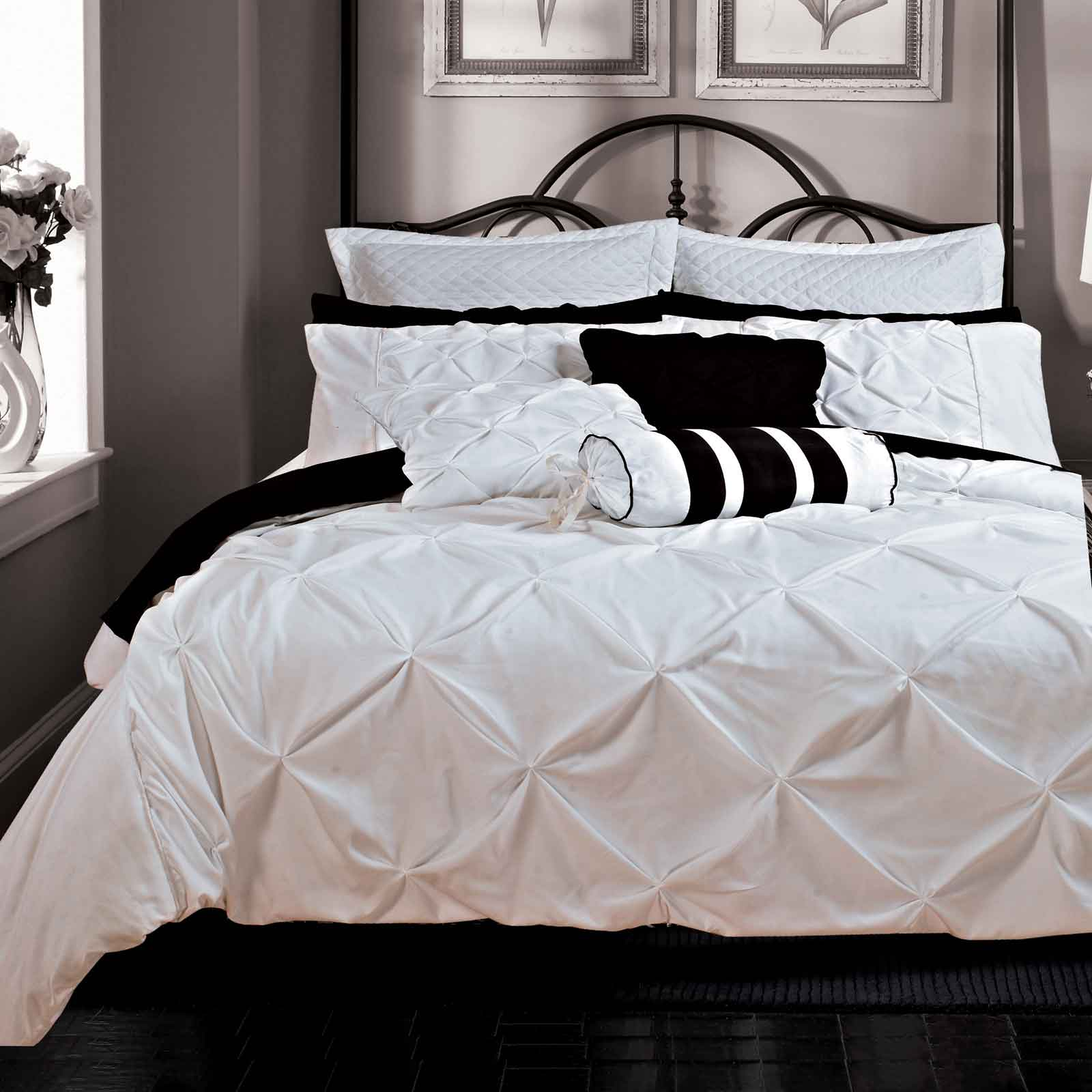 Fantine-King-Queen-Size-Duvet-Quilt-Cover-Set-White-3-Pcs-Bedding-Set-Bed-Linen